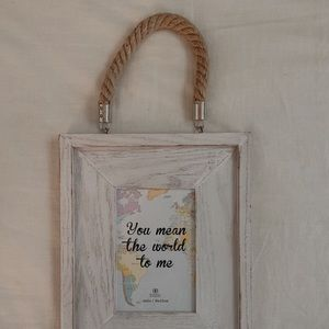 White Distressed Rustic Frame